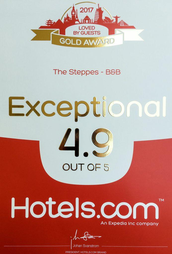 Hotels.com 2017 award